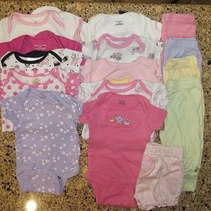 Other - BUNDLED baby girl summer colored clothes. 3-6 mo